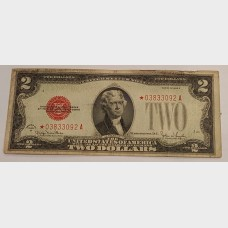$2 Series 1928G Legal Tender Star Note Red Seal FR1508★ VG