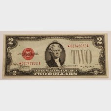 $2 Series 1928D Legal Tender Star Note FR1505★ EF
