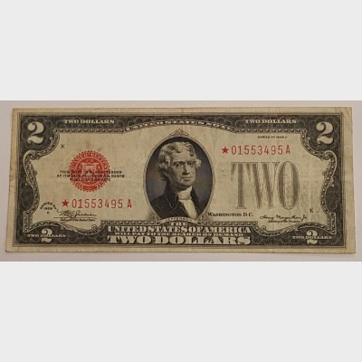 $2 Series 1928C Legal Tender Star Note FR 1504★ VF