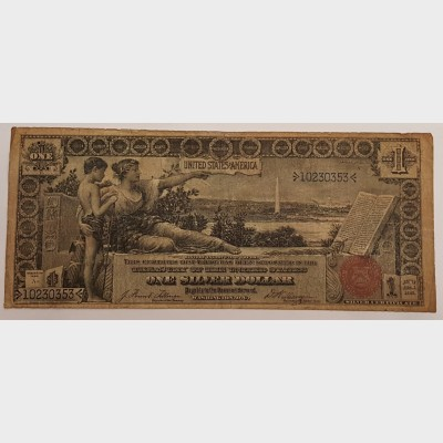 1896 Educational Note $1 Silver Certificate FR224