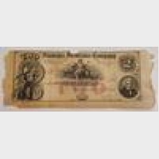 $2 1872 Obsolete Bill Fireman's Insurance Company Tennessee AG