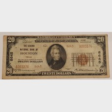 $20 Bill National Currency Houston Series 1929 FR2145 EF