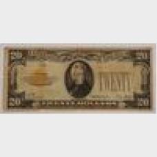 $20 Gold Certificate Series 1928 FR2402 VG