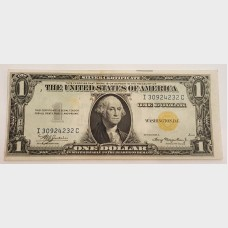 $1 Series 1935A Emergency Silver Certificate Note FR2306 AU