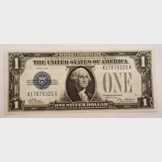 $1 Bill Silver Certificate Series 1928 FR1600 CU