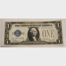 $1 Silver Certificate Blue Seal Series 1928B FR1602 CU
