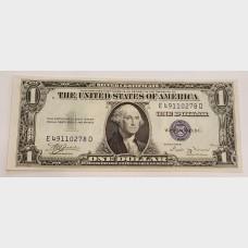 $1 Silver Certificate Blue Seal Series 1935B FR1611 CU