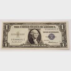 $1 Silver Certificate Blue Seal Series 1935F FR1615 CU