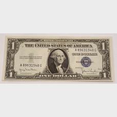 $1 Silver Certificate Blue Seal Series 1935D FR1613N CU