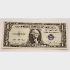 $1 Silver Certificate Blue Seal Series 1935D FR1613W CU