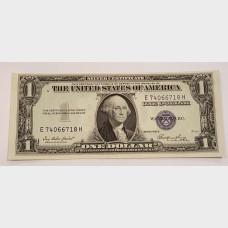 $1 Silver Certificate Blue Seal Series 1935E FR1614 CU
