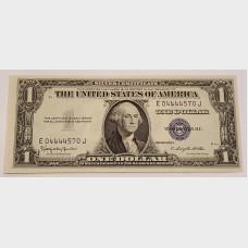 $1 Silver Certificate Blue Seal Series 1935H FR1618 CU