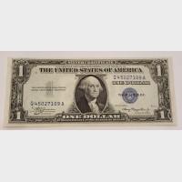 $1 Silver Certificate Blue Seal Series 1935A FR1608 CU