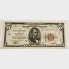 $5 Federal Reserve Bank Note Philadelphia Series 1929 FR1850C EF