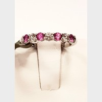 Tiffany & Co Platinum Diamond and Pink Sapphire Ring