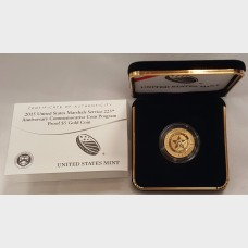 2015-W Gold $5 U.S. Marshals Service Proof Coin (w/box & COA)