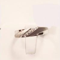 Men's 10K White Gold Diamond Ring