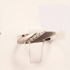 Men's 10K White Gold Diamond Ring