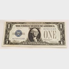 $1 Bill Series 1929D Silver Certificate Blue Seal FR1604 XF+