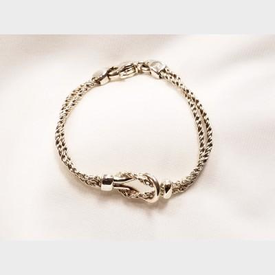 Tiffany & Co. Sterling Silver Love Knot Bracelet