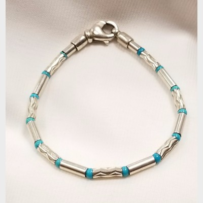 Tiffany & Co. Sterling Silver German Cable Bracelet