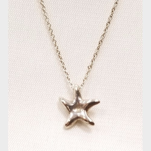 Tiffany co elsa peretti small starfish necklace for Jewelry store mission viejo