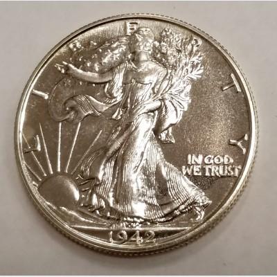 1942 Walking Liberty Silver Half Dollar GEM Proof
