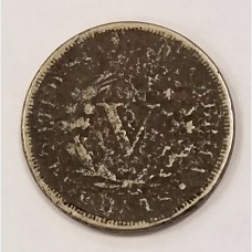 1886 Liberty V Nickel AG RAW