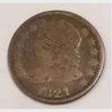 1821 Capped Bust Large Date Silver Dime VG RAW
