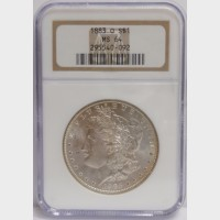 1883-O Morgan Silver Dollar NGC MS64