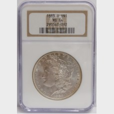 1883-O Morgan Silver Dollar NGC MS64