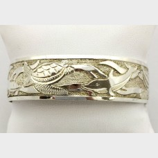 Under the Sea Silver Bangle