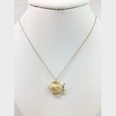 Yellow Gold Necklace with Fish Pendant