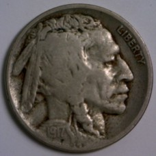 1917-D Buffalo Nickel VG RAW