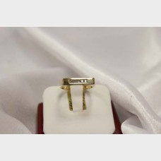 Men's Slated Yellow Gold Ring