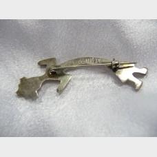Kachina Navajo Sterling Silver Pin Brooch by Felix Joe
