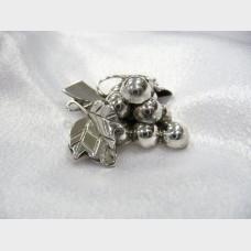 Mexican Sterling Silver Grape Pin Pendant