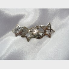 Sterling Silver Stars and Moon Pin