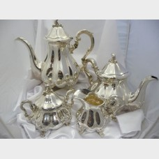 George IV Four Piece Silver Coffee Service Set
