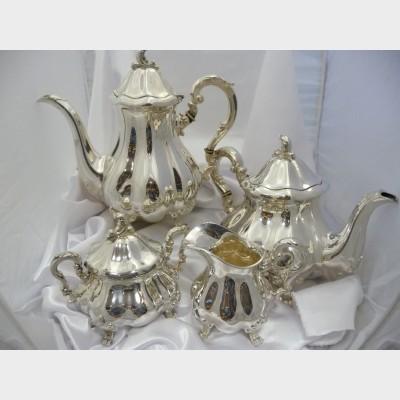 George IV Four Piece Silver Coffee Service Set