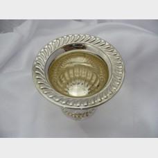Miniature Champagne Bucket Vintage Pair Sterling Silver Lion Head Design Footed Urn Hallmarked National