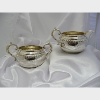 Gorham Sterling Silver Milk Jug and Sugar Bowl
