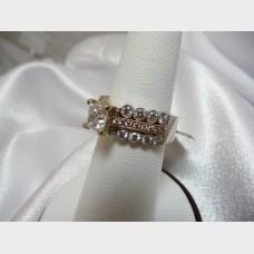 Princess Cut Diamond Ring in White & Rose Gold