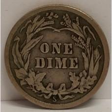 1913-S Barber Dime Fine RAW