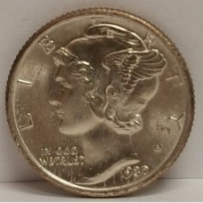 1930 Mercury Head Dime w/Full Split Bands Gem BU