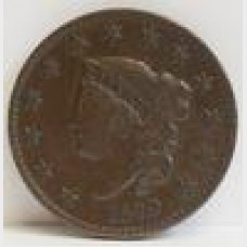 1829 Coronet Head Liberty Large Cent VF RAW