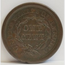 1843 Large Cent Almost Uncirculated