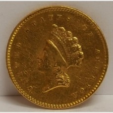 1854 Type II Liberty Head $1 Gold Coin VF RAW