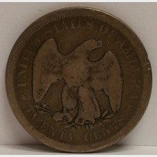 1875-S Seated Liberty Twenty Cents G+ RAW