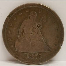 1875-S Seated Liberty Twenty Cents G+ RAW